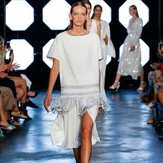 Sophisticated yet playful, retro-reminiscent yet contemporary chic, Sally LaPointe's vision for SS18 was a modern day wonder woman – dressing to take the future of her industry, her social scene, and the rest of the world in style, one look at a time.