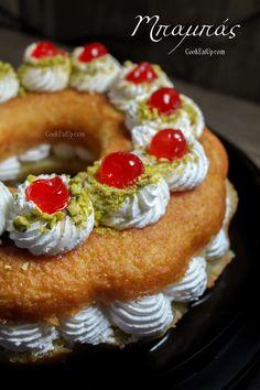 Μπαμπάς χωρίς μαγιά και ρούμι! ⋆ Cook Eat Up! Kai, Savarin, Cheesecake, Muffin, Sweets, Cream, Breakfast, Desserts, Food