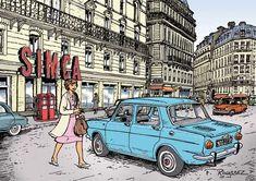 renault dauphine bande dessinee - Cerca con Google