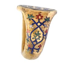 Engagement Ring with a Greek Inscription, about A.D. 1175–1300. Gold and enamel, 1 3/16 in. diam. Image courtesy of the National Archaeological Museum, Athens