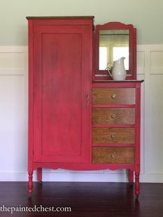 The Painted Chest: Tricycle Red Wardrobe Makeover