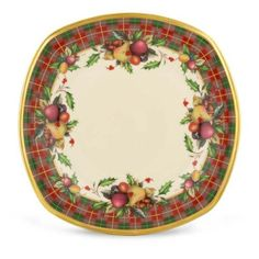 Lenox Holiday Tartan Square Accent Plate by Lenox. $50.00. Crafted of Lenox ivory bone  sc 1 st  Pinterest & Lenox Holiday Tartan Dinnerware! \u2026 | Pinteres\u2026