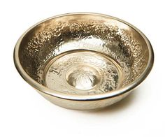 Made in Turkey, this bowl features the same centuries-old design that was used in the bathhouses of Istanbul. Now it can brighten up your counters, thanks to a 100 percent copper core and a silver finish. | Copper and Silver Hammam Bowl from @shoplatitude