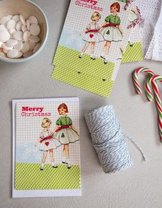 Retro Merry Christmas Holiday Flat Notes by percivalroad