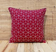 Red Throw Pillow Cover Cotton Cushion Embroidered Geometr... http://www.amazon.com/dp/B00ZF96LQS/ref=cm_sw_r_pi_dp_MUMjxb0DK4JH4