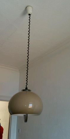 Rise And Fall Pendant Pull Down Ceiling Light White Metal Shade ...