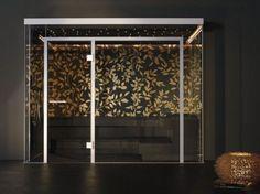 home sauna wallpaper black