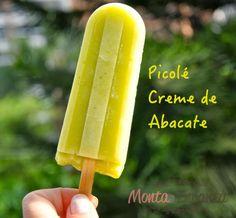Picolé de Creme de Abacate, Além de refrescante é uma opção saudável para equilibrar o calor que continua