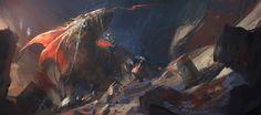 Mars Dragon, Juan Pablo Roldan on ArtStation at https://www.artstation.com/artwork/RDrAO