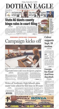 Check out the white space on the main story -- and look how little of that story is on the front page. They're probably setting it up for a cool layout inside.