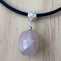 Recycled Faceted Rose Quartz Necklace