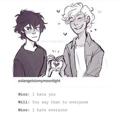 Just Nico being mood Source by Percy Jackson Ships, Percy Jackson Fan Art, Percy Jackson Memes, Percy Jackson Fandom, Will Solace, Rick Y, Uncle Rick, Magnus Chase, Solangelo