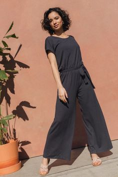 Kadoum Jumpsuit Poivre – Lily Pretty Shoes, Dressing, Jumpsuit, Short Sleeves, Feminine, How To Wear, March, Lily, Fashion