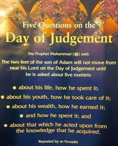 5 Question on the day of judgement.