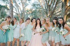 aqua bridesmaid dresses | Shea Christine #wedding