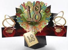 18TH BIRTHDAY POP UP CARDS NEW LUXURY 3D ORIGINAL POP UPS POP-UP GIFT 18 CARD