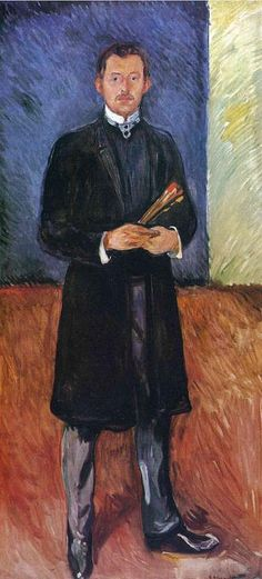 Edvard Munch, Self-portrait with Brushes, 1904