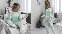 This Tie-Dye Pajama Set Was Made for Cozy Winter Style Lounge, Lounge Wear, Matching Pajamas, Cozy Winter, Instagram Worthy, Jogger Pants, Pyjamas, Nightwear, Pajama Set
