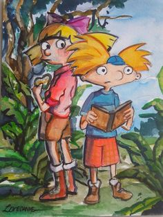 Watercolour Drawing! I'm Happy ;D hey Arnold