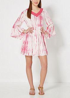 Fuchsia Tie Dye Babydoll Dress