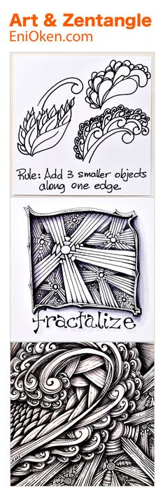 Learn to fractalize Zentangle®️, an advanced tangle enhancer that uses the mathematical concept of fractals to create complex pictures. enioken.com
