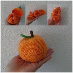 Bøgelund sysler: Hæklet åben appelsin Crochet Food, Cute Crochet, Crochet For Kids, Crochet Yarn, Diy And Crafts, Arts And Crafts, Plush Pattern, Stuffed Animal Patterns, Crochet Patterns Amigurumi