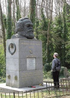 Visit Highgate Cemetery in London. Burial place of Karl Marx and many other persons of note. Designed by the famous Victorian architect Stephen Geary in 1839