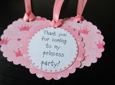 Princess Party Favor Tags on Etsy, $10.20