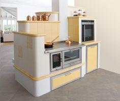 Wood Cooker by Pertinger, Germany Stove Oven, Kitchen Stove, Wood Burning Oven, Wood Stove Cooking, Wood Oven, Rocket Stoves, Wood Burner, Küchen Design, Interior Design Kitchen