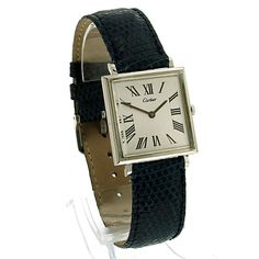 Cartier 18 ct. gold watch - article number: CA0135 #watch #cartier #cartierwatches   cartier watches women   cartier horloge dames   vintage watches   vintage horloges   horloges dames   SpiegelgrachtJuweliers.com
