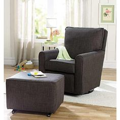 """KACY Collection Madison Glider - Ash - Little Castle Furniture - Babies """"R"""" Us Product Dimensions (in inches):38.8 x 36.2 x 30.5"""