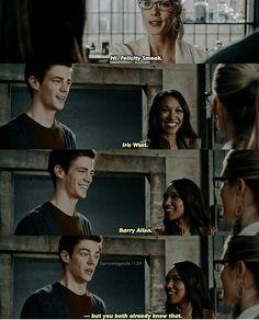 Barry Allen, Iris West, Felicity Smoak
