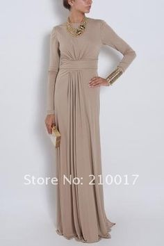 modest evening gown