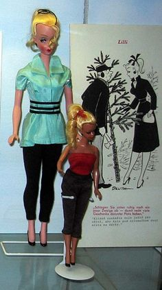 """Bild Lilli German dolls in two sizes..never an 11.5"""" doll...but her clones were, and there were several knock-offs in the early 60's."""