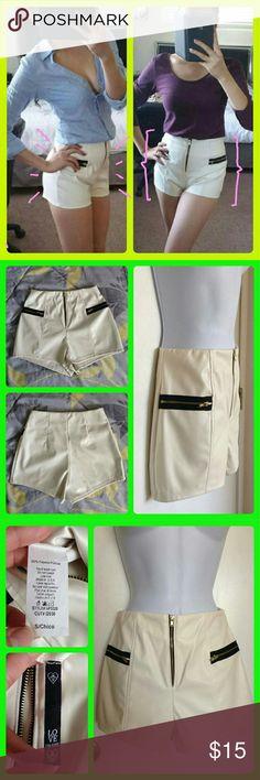 High Waist Faux leather Shorts NWOT High Waist Faux leather Shorts. Stretchy material. Shorts