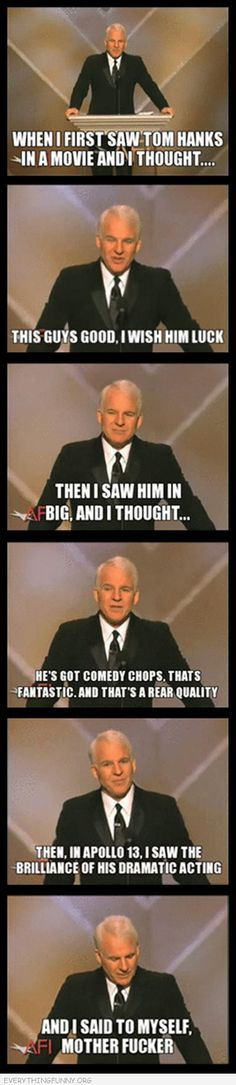 Everything Funny — sorry for the language! Steve Martin errone