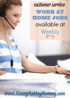 Customer Service Work at Home Jobs Available at Weebly Best Home Business, Home Based Business, Home Websites, Make Money Online, How To Make Money, Customer Service Jobs, Jobs For Teens, Ohio, Herbs