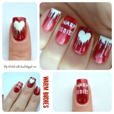 Nail art inspired by Warm Bodies by Isaac Marion