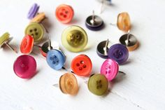 Thumb Tacks Button Push Pins Colorful Buttons Thumbtacks Memo Bulletin Board Assorted Colors