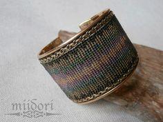 -miidori- my beadwork Loom Beading, Beadwork, Cuff Bracelets, Handmade, Jewelry, Hand Made, Jewlery, Jewerly, Pearl Embroidery