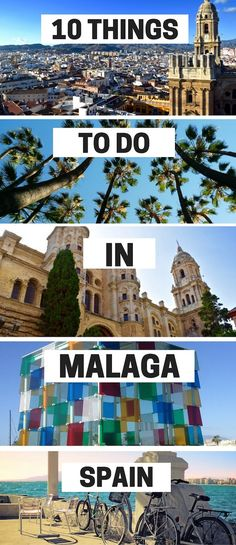 Malaga on Spain's Costa Del Sol is a buzzing city with more history, culture and great food than many cities put together. Find out the top things to do in Malaga your first visit. Benalmadena Spain, Torremolinos Spain, Places To Travel, Travel Destinations, Holiday Destinations, Malaga City, Spain And Portugal, Spain Travel, Croatia Travel