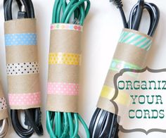 Washi Cord Organizers DIY Tutorial | Hip Home Making