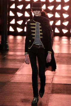 My son mentioned in this Yves St. Laurent show...more later.
