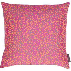 Clarissa Hulse Garland Pillow - 45x45cm - Neon/Pebble/Fluoro-orange ($82) ❤ liked on Polyvore featuring home, home decor, throw pillows, orange, orange home accessories, colored throw pillows, neon throw pillows, orange accent pillows and tangerine throw pillows