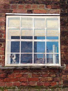 Painted window on Purfleet Quay, King's Lynn, Norfolk, UK #StreetArt
