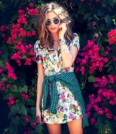 Floral and plaid, yes.