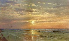 """""""Sunrise, Atlantic City""""  William Trost Richards"""