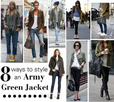 8 Ways to Style An Army Green Jacket!