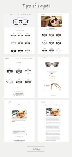 Eyewear - Buy Sell Glasses Online Theme > #Eyewear is created for e-Commerce business and mostly for Single Category Product #website #sunglasses