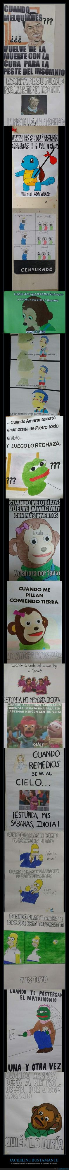 Profesora chilena pidió a alumnas hacer memes sobre 100 años de soledad